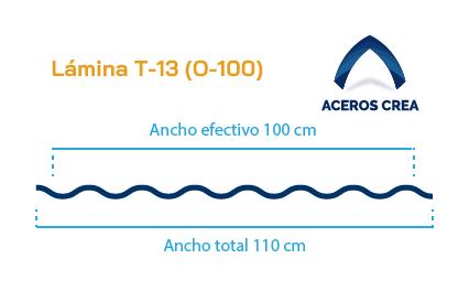 Perfil acanaldo T-13 (O-100)