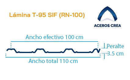 Perfil acanalado T-95 (RN-100)