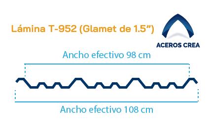 Perfil acanalado T-952 (Glamet9