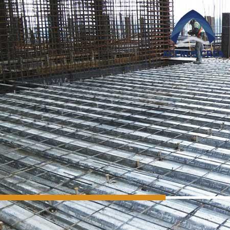 Colocación de Losacero 25 en una construcción