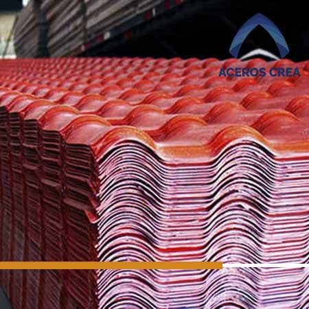 Láminas de PVC tipo teja