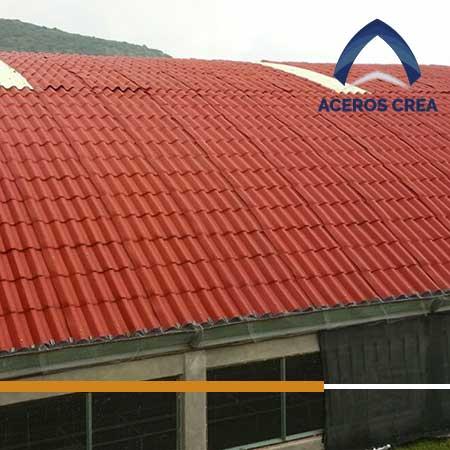 Aplicación en techo de la lámina Ultrateja